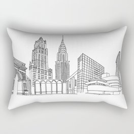 NYC Landmarks by the Downtown Doodler Rectangular Pillow
