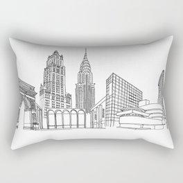 NYC Landmarks by the Downtown Doodler Rectangular Pillow