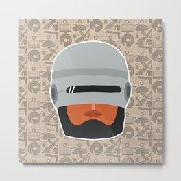 Robocop Metal Print