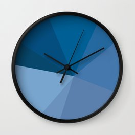 blue machine Wall Clock