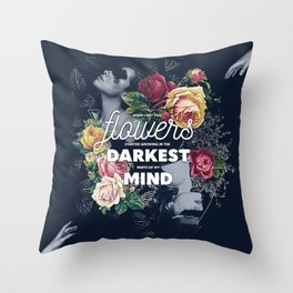 Flowers In My Mind Throw Pillow