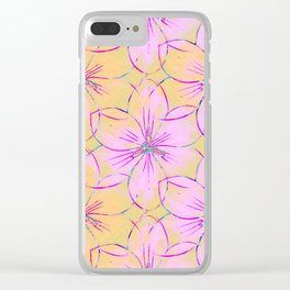 Flower Sketch Clear iPhone Case