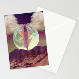 A Vulnerable Moon on a Superficial Night Stationery Cards