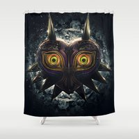 majora Shower Curtains featuring Epic Pure Evil of Majora's Mask by Barrett Biggers
