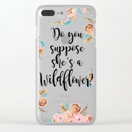 Blush and gold wildflower Clear iPhone Case