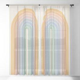 Gradient Arch - Rainbow III Sheer Curtain