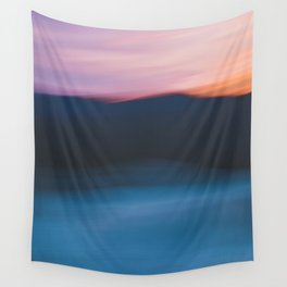 Mountain Sunset Abstract Wall Tapestry