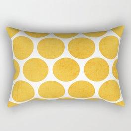 yellow polka dots Rectangular Pillow