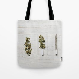 Evolution of weed Tote Bag