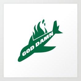 Jets God Dam Funny New York Football Art Print