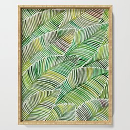 Tropical Green Serving Tray