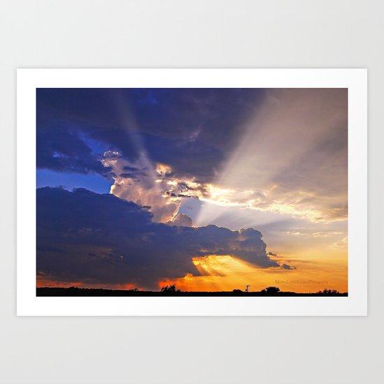 Heavenly Sunset Art Print