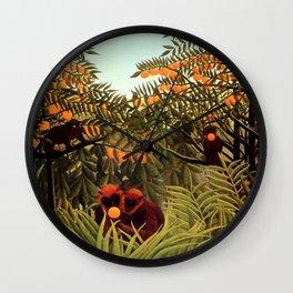 "Henri Rousseau ""Apes in the Orange Grovee"", 1910 Wall Clock"