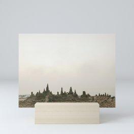 Sandcastles and fog | Rehoboth Beach, DE Mini Art Print