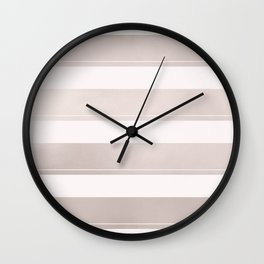 Rose Gold and Wide Pink Stripes Mix Pattern Wall Clock