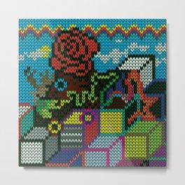 colorful rosedeer Metal Print