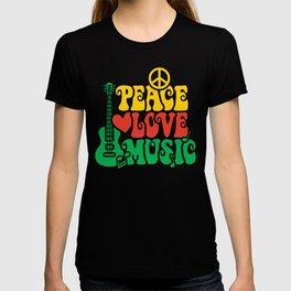 Reggae Peace Love and Music T-shirt