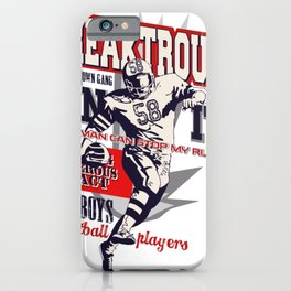 Super Breaktrough - No Man Can Stop My Run iPhone Case