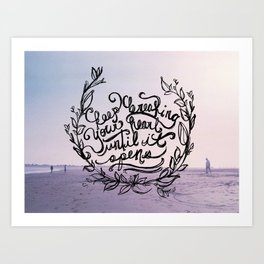 Breaking Art Print