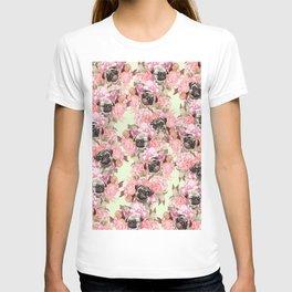 Pugs in Garden T-shirt