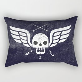 Death Rider Winged Skull with Arrows Rectangular Pillow