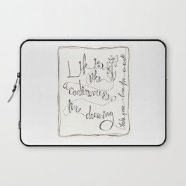 Line  ( Take your line for a walk) Laptop Sleeve