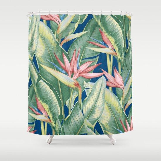 Flowers Birds Of Paradise Shower Curtain By Catyarte Society6
