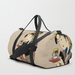 Tea Time with Pug Duffle Bag