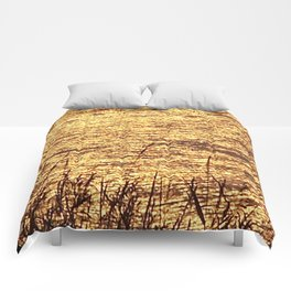 Sparkling Sea of Gold Comforters