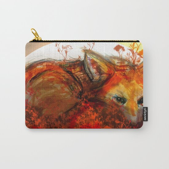 Fox in Sunset III Carry-All Pouch