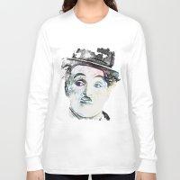 chaplin Long Sleeve T-shirts featuring Chaplin by Marian - Claudiu Bortan