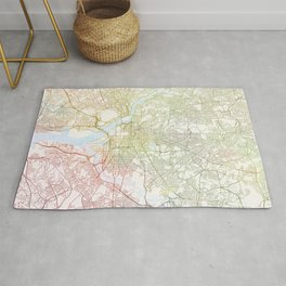 Washington DCmodern wall art Map Watercolor by Zouzounio Art Rug