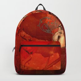 Music, violin with violin bow Backpack