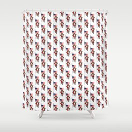 Santa Claus With Star-Spangled Banner Shower Curtain