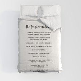 The Ten Commandments Comforters