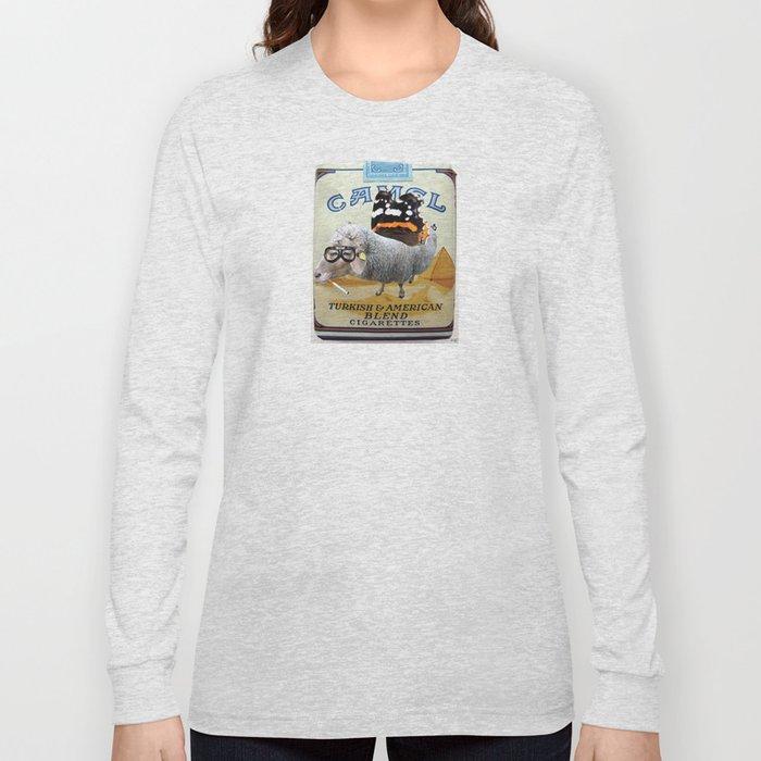 Sheep smoking... Long Sleeve T-shirt
