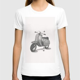 Vintage Scooter black and white T-shirt
