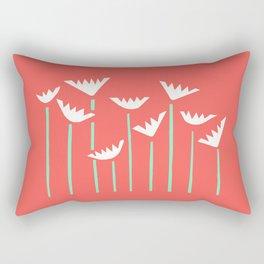 Bright Tropical Collage Rectangular Pillow