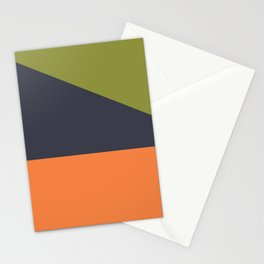 geometric color blocks Stationery Cards