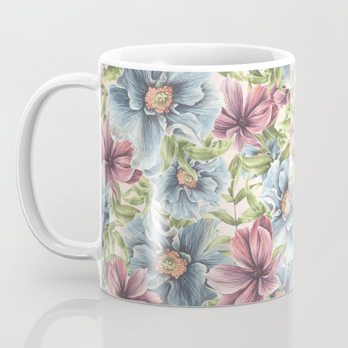 Hibiscus Vintage Pattern Coffee Mug