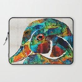 Colorful Wood Duck Art by Sharon Cummings Laptop Sleeve