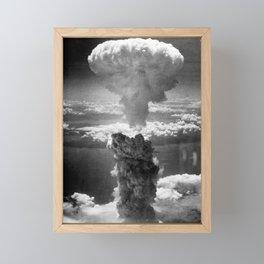 Atomic Cloud Rises Over Nagasaki, Japan Framed Mini Art Print