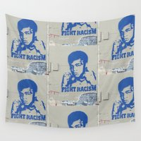 fight Wall Tapestries featuring Fight Racism by Chicca Besso