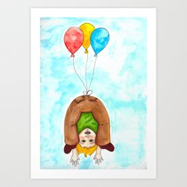 Hanging by a Thread Art Print
