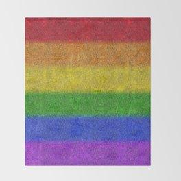 Rainbow Glitter Gradient Throw Blanket
