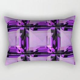 EMERALD CUT PURPLE FEBRUARY AMETHYST GEMS Rectangular Pillow