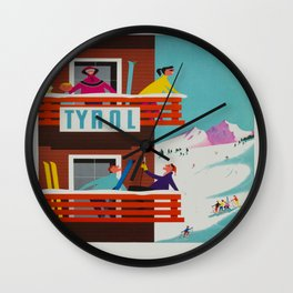 Vintage poster - Tyrol Wall Clock