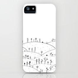 Landscape Doodle Art iPhone Case