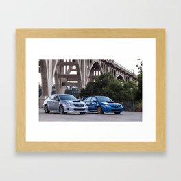 2012 2007 STI Framed Art Print
