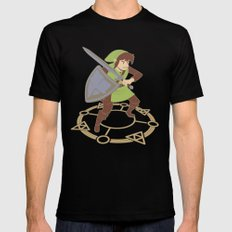 8-Bit Memories-  Legend of Zelda Mens Fitted Tee Black SMALL